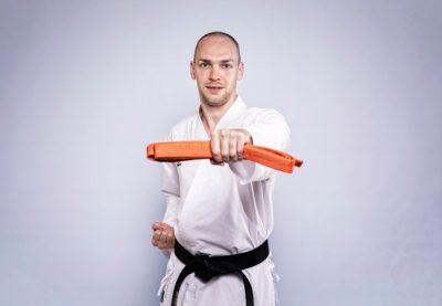 7. Kyu - Oranger Gürtel Karate